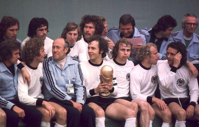 World Cup winners in 1974 Germany