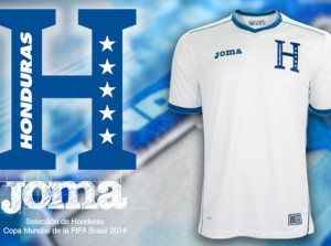 New Honduras home jersey World Cup 2014