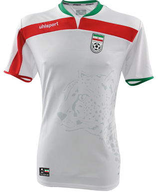 Iran home jersey World Cup 2014