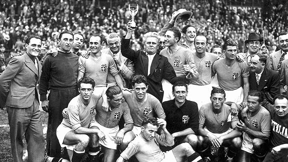 1938 Italy World Cup winners