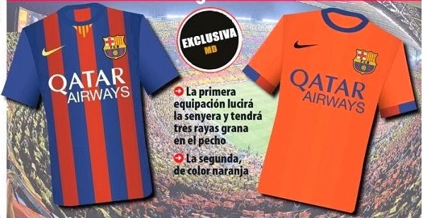 Barca home and away jersey 14/15