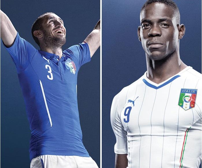 Italy home jersey + Italy away jersey
