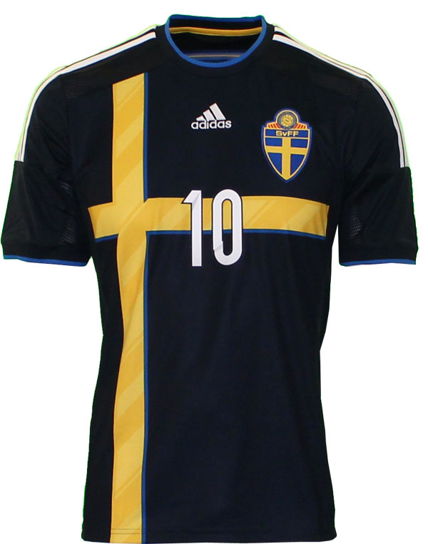 Sweden away jersey front number 10