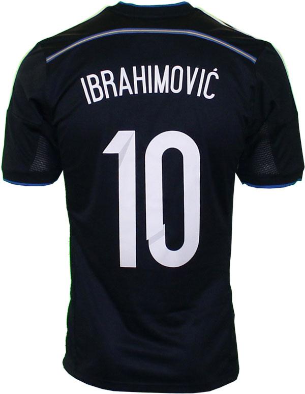 Sweden away jersey Ibrahimovic' 10