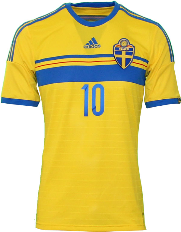 Sweden home jersey front number 10