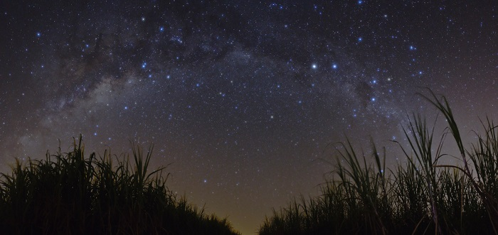 The night sky over Brazil