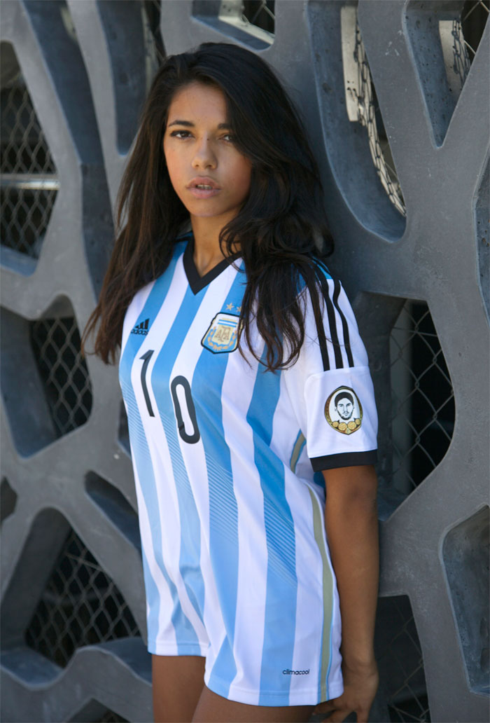 Argentina home jersey left arm sleeve