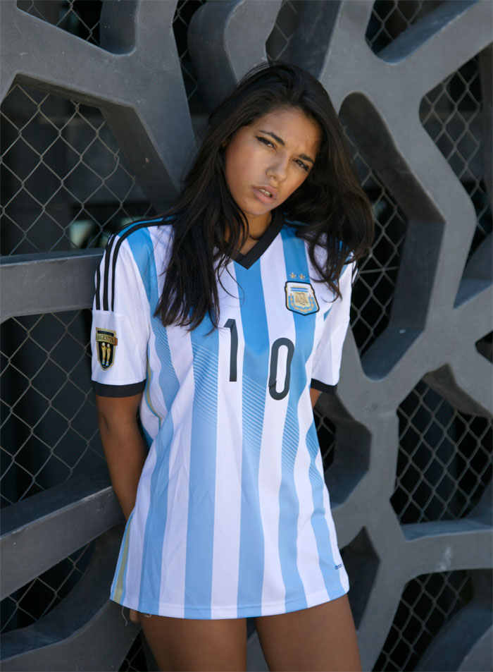 Argentina home jersey Pelli badge