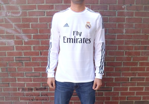 Real Madrid home jersey Long Sleeve 13/14