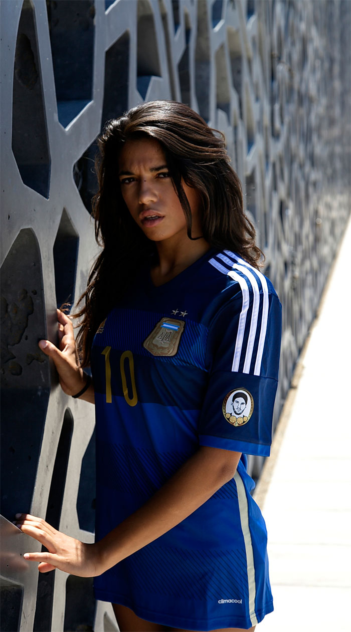 Argentina away jersey at the wall