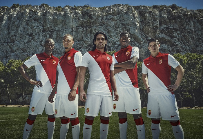AS Monaco home kit 2014/15