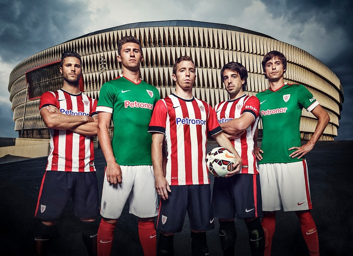 Athletic Bilbao home and away jersey 14/15