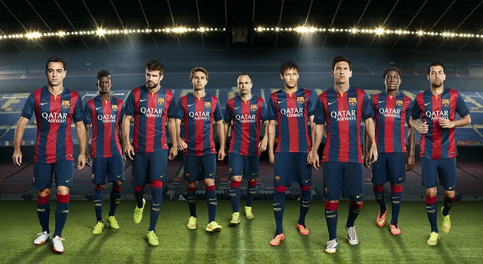 FC Barcelona home kit 2014/15