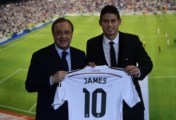 James Rodriguez 10 jersey Real Madrid