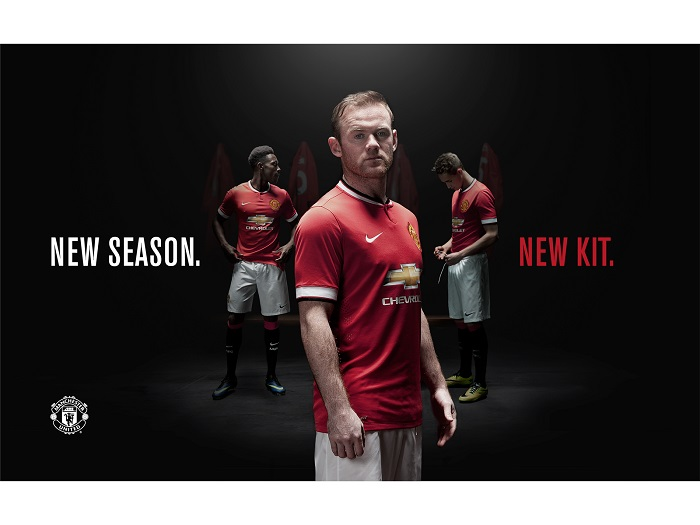 New Manchester United home kit 2014/15