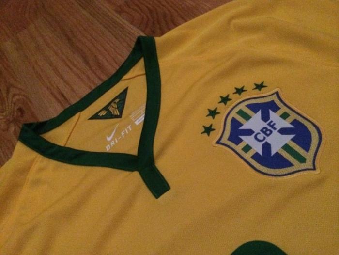 Brazil home jersey collar