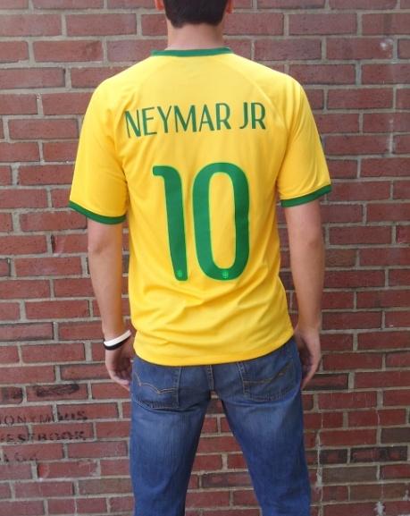 Brazil home jersey backside