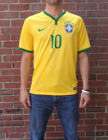 Brazil home jersey front live model