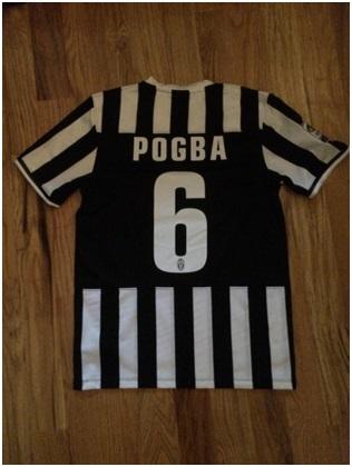 Juve home kit nameset Pogba 6