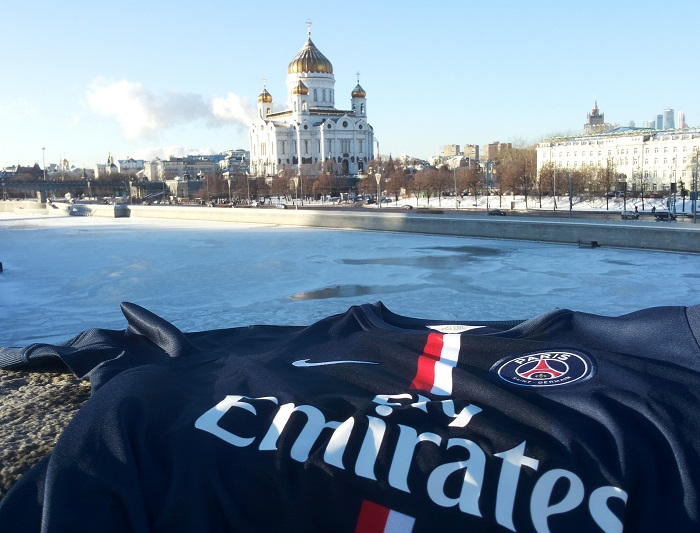 PSG jersey freezing cold Moscow