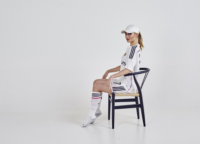 Real Madrid home kit model all white