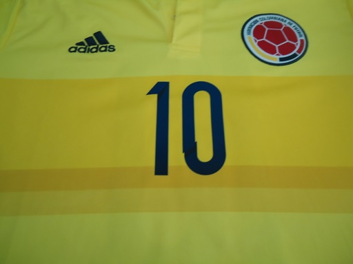 Colombia home jersey front number