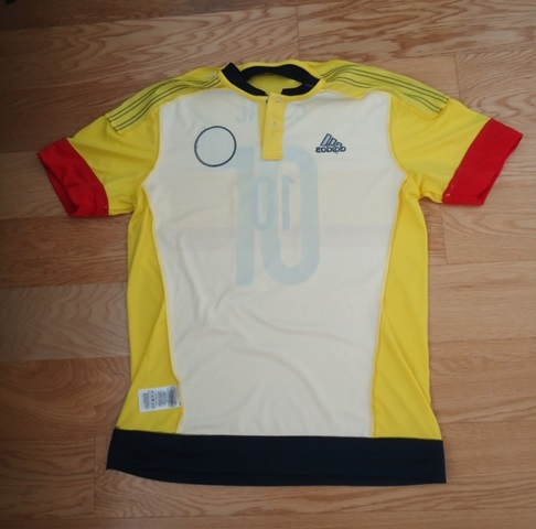 Colombia soccer jersey inside out