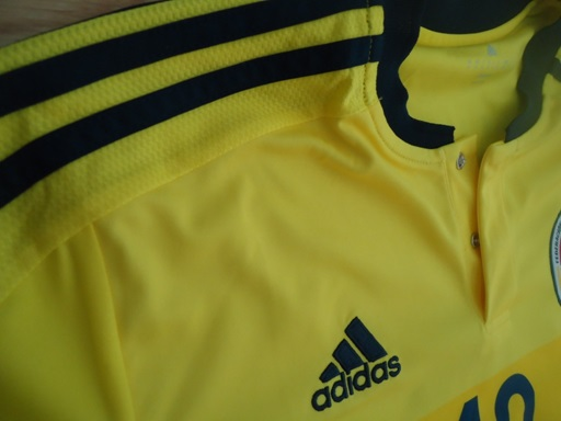 Colombia home jersey detail fabric