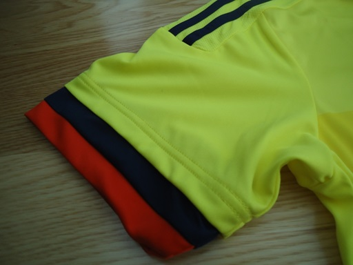 Colombia soccer jersey sleeve trim