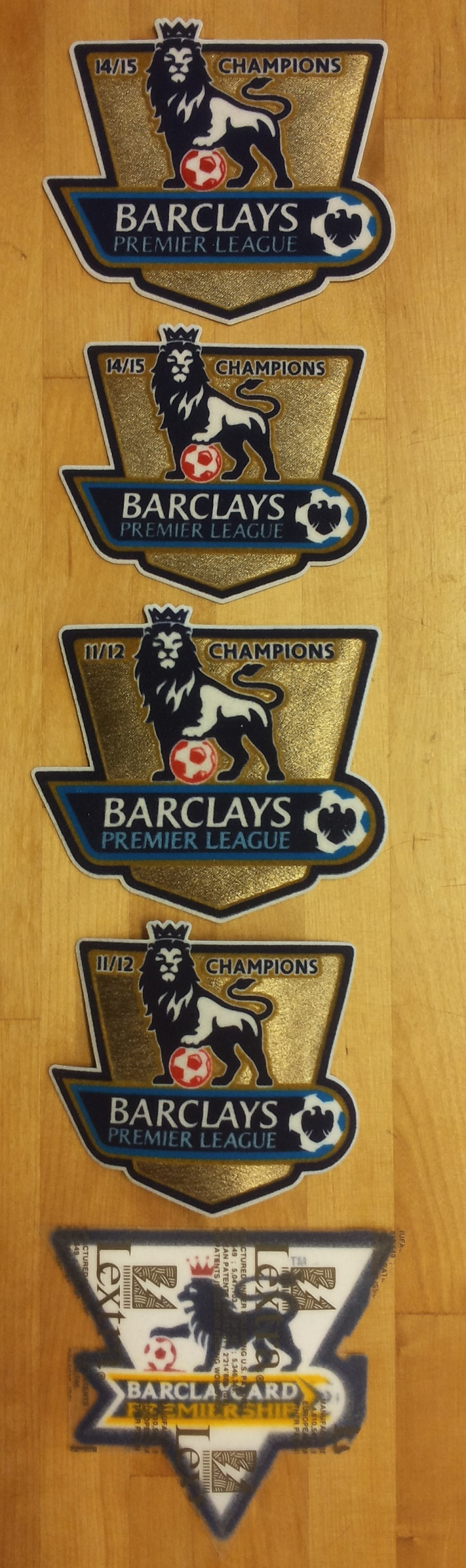 EPL Champs badges timeline 1992-2016