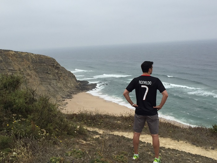 Portugal away jersey in black