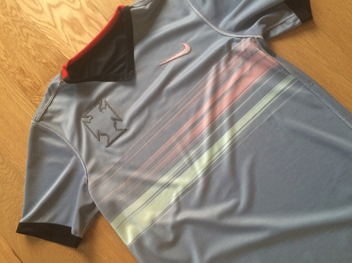 Portugal away shirt inside out