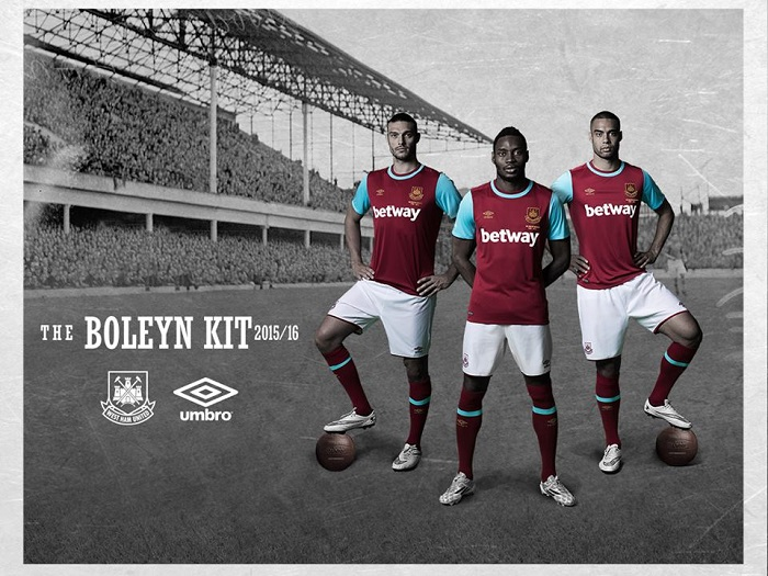 West Ham home jersey 2015/16
