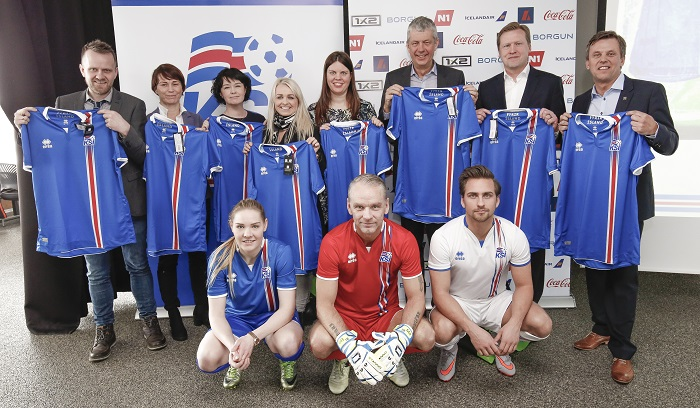 Iceland home, away, goalie kits