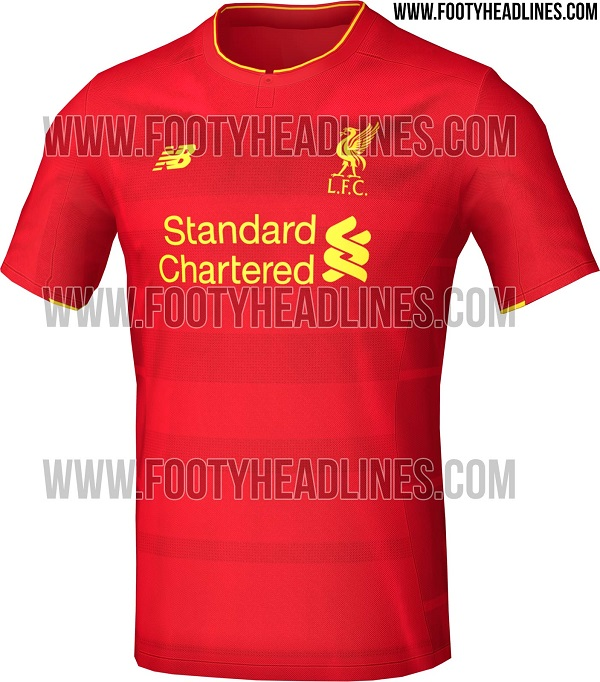 New Liverpool home jersey 16/17