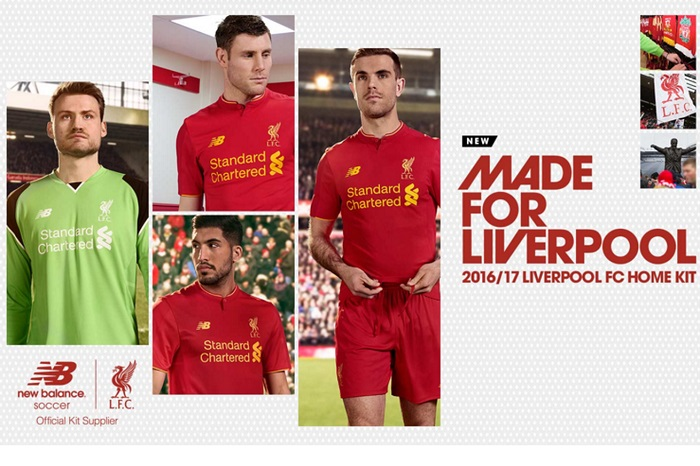 Liverpool home jersey 2016/17