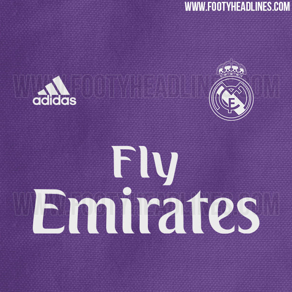 Real Madrid away jersey 2016/17 - close-up