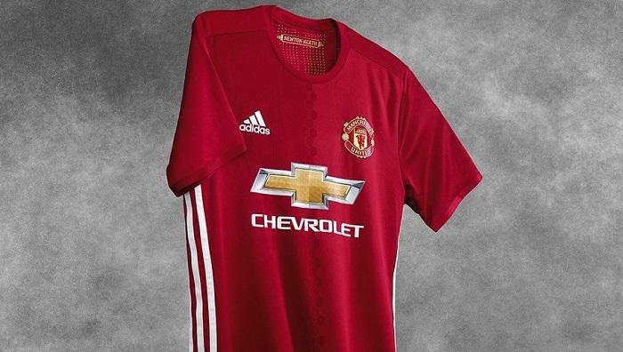 Man Utd home kit 16/17