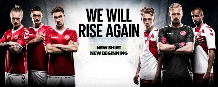 Hummel Denmark national team kit