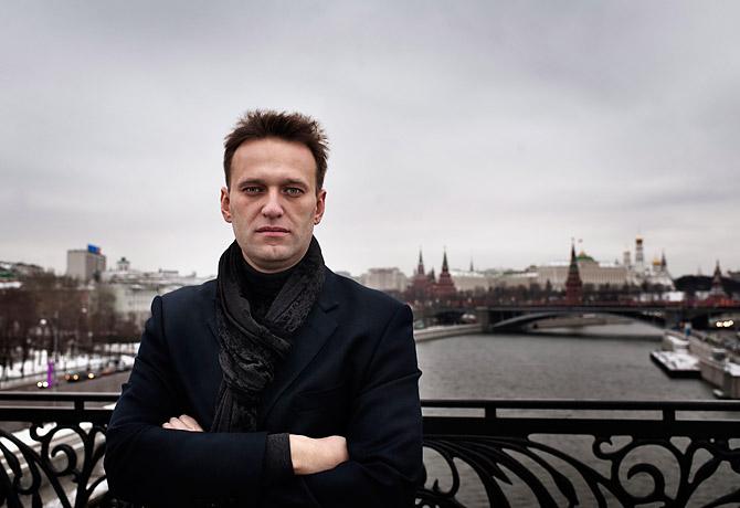 Alexander Navalny on Moscow bridge