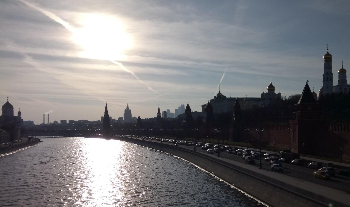 Moscow Kremlin sunlight