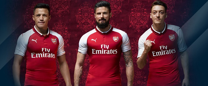 Arsenal home jersey 2017/18