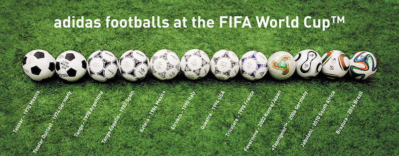 World Cup match balls history