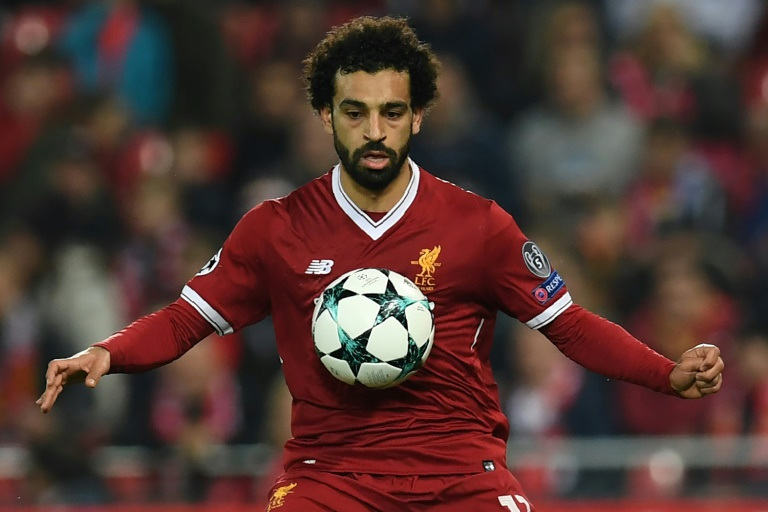 Liverpool starball badge UCL Salah