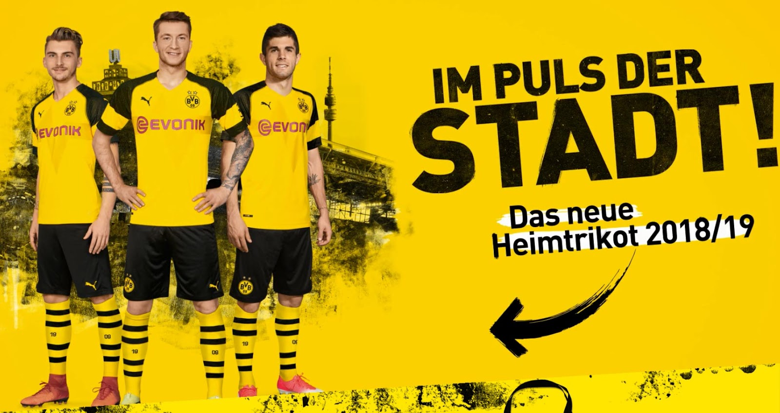 Dortmund home kit 2018/19