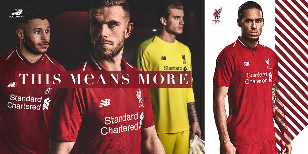 Liverpool home kit 18/19