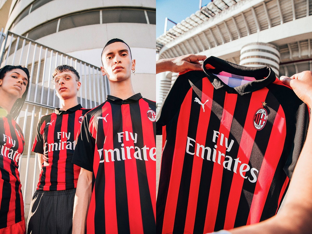 AC Milan home kit close up