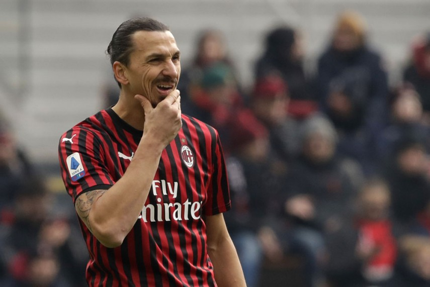 Ibrahimovic in AC Milan home uniform