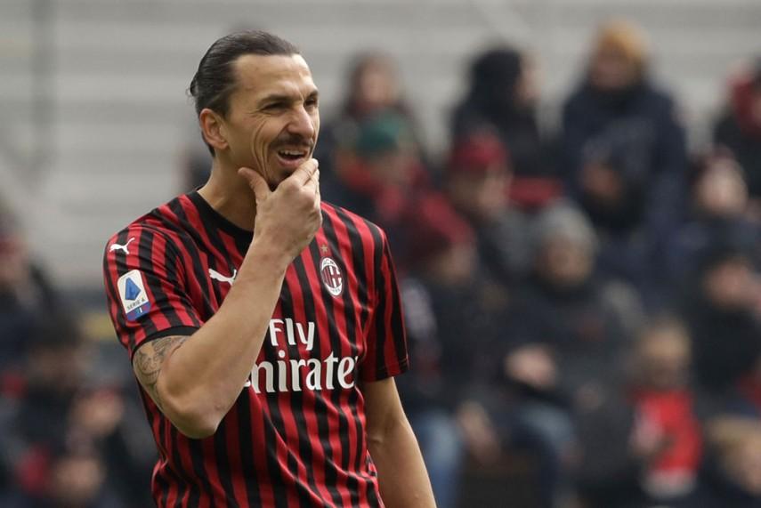 Ibrahimovic in AC Milan home uniform