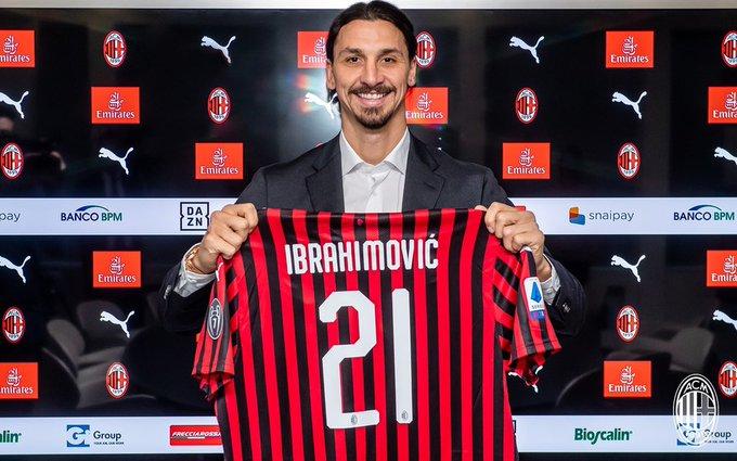 Zlatan 21 for AC Milan home kit